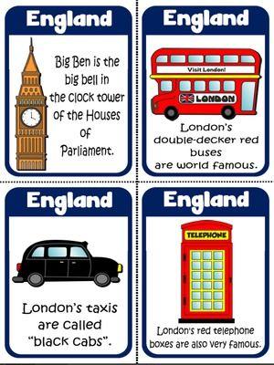 England - Flashcards
