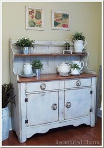 Superior Refinished Kitchen Buffet.