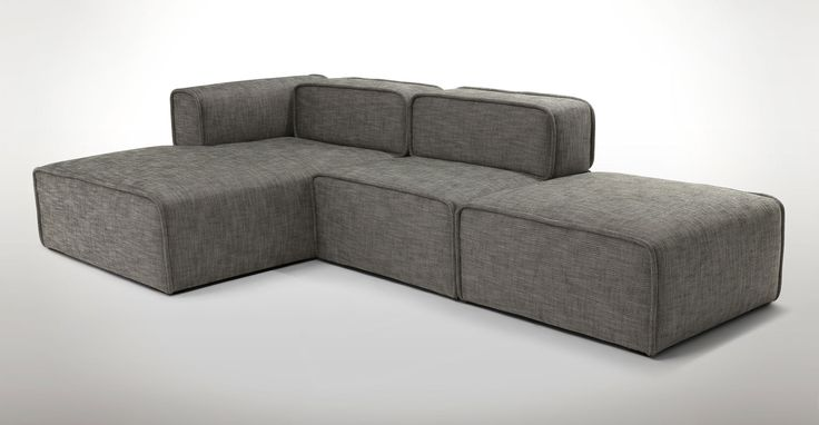 Quadra Mineral Taupe Left Sectional - Sectionals - Article | Modern, Mid-Century and Scandinavian Furniture