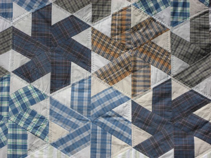 men's shirt quilt patterns | Both quilts are quilted by hand and I'm still thinking if I could ...