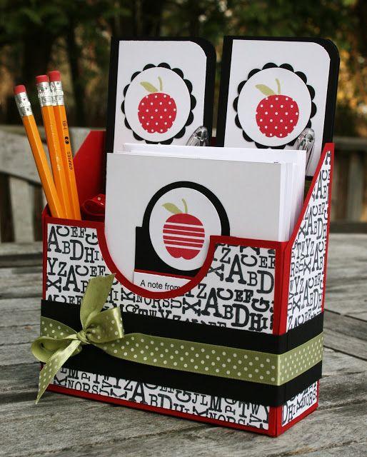 how to make a cute stationery set on a box