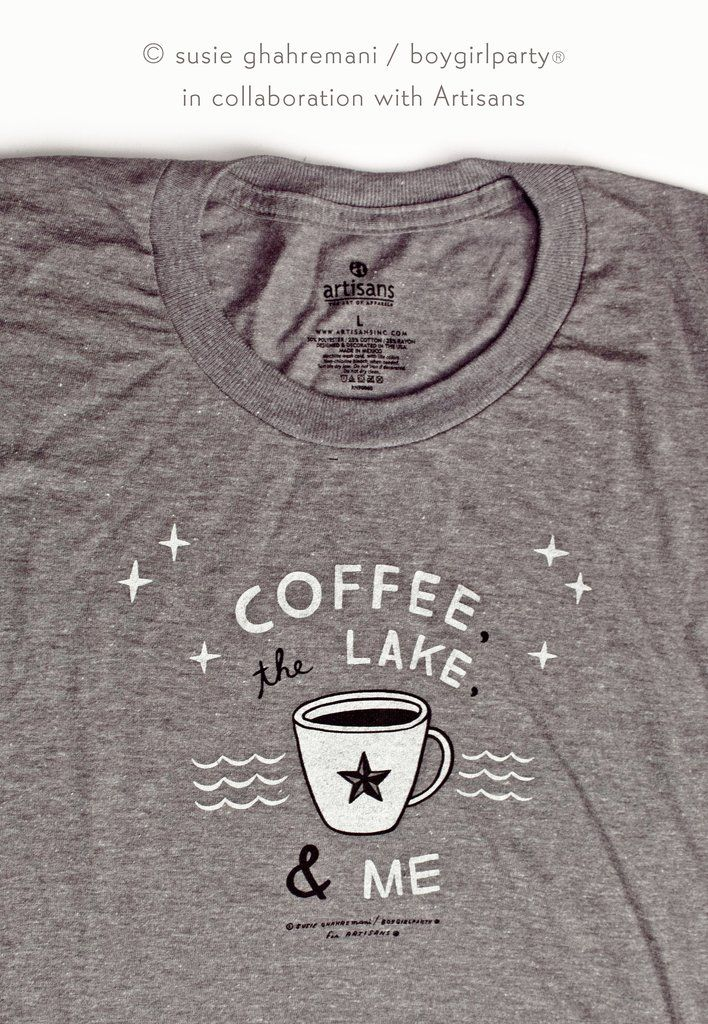 Coffee, The Lake & Me Women's Graphic Tee | the boygirlparty