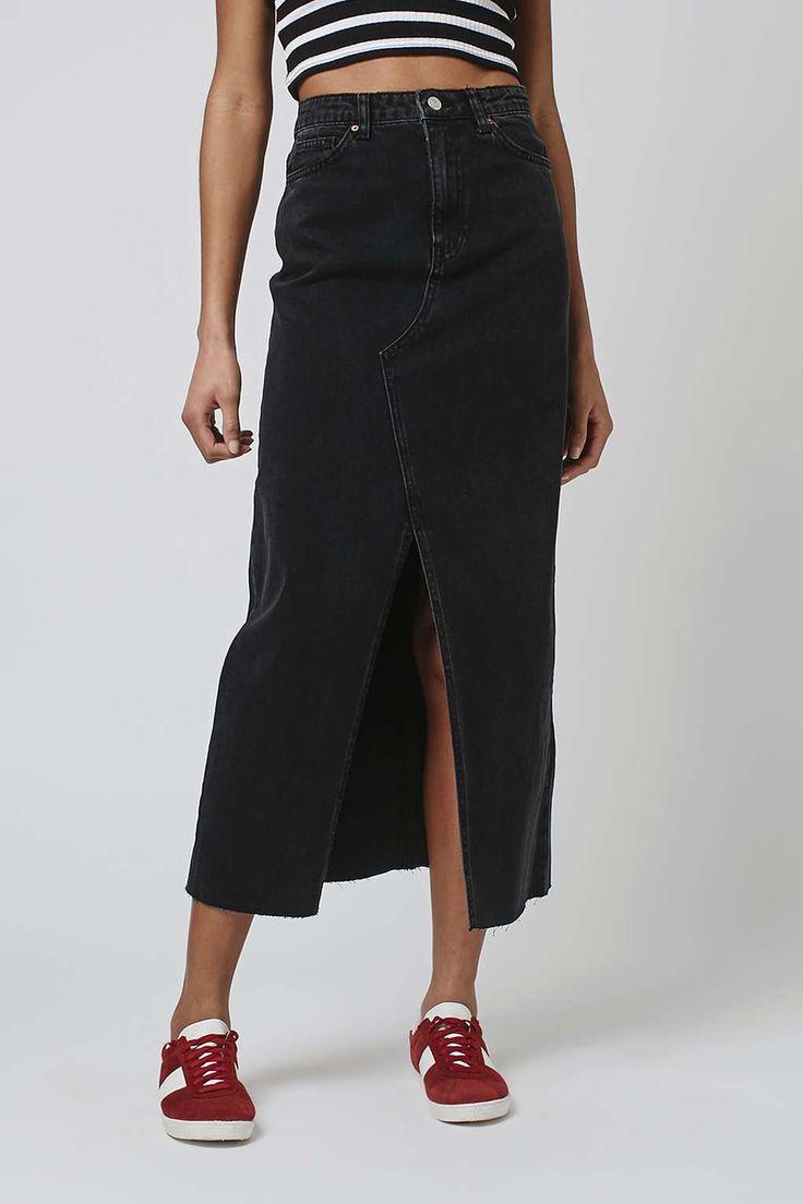 MOTO Maxi Denim Skirt - New In