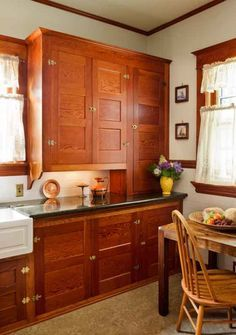 Restored Cabinets in a Renovated Craftsman Kitchen   Old House Restoration, Products & Decorating