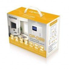KIT alarma cu TRANSMITATOR GSM incorporat Centrala de Alarma cu 99 zone wireless si 4 zone pe fir.  Fiecare zona poate fi programata independent.- Fiecare zona poate fi definita ca fiind unul dintre urmatoarele tipuri de zona :    Intarziata / Instanta / Patrulare / de urgenta (Incendiu / Gaz) / normal inchisa / inteligenta / HOLD-UP (Panica) / Chime (functia clopotel). - 4 tipuri (stay arming / disarming + global arming / disarming) de armare / dezarmare separat pe zone.