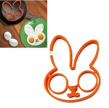 piccoli bianchi d'uovo di coniglio stampi in silicone shaper anello uovo muffa silicone strumenti di cotturaall'ingrosso