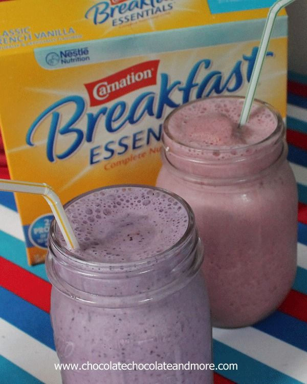 Carnation Breakfast Smoothies-a fast and tasty way to start off the day!
