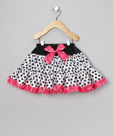 White & Fuchsia Polka Dot Tutu - Infant, Toddler & Girls by Ella's Tutus on #zulily