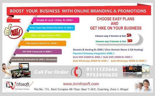 DVInfosoft is best website designing services in Bhopal Website