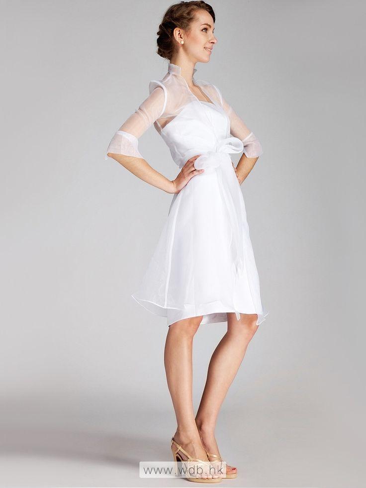 """2pc Classic Satin Little White Dress $129.98"""