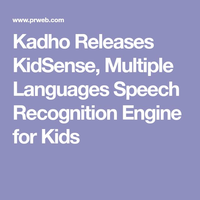 Kadho Releases KidSense, Multiple Languages Speech Recognition Engine for Kids