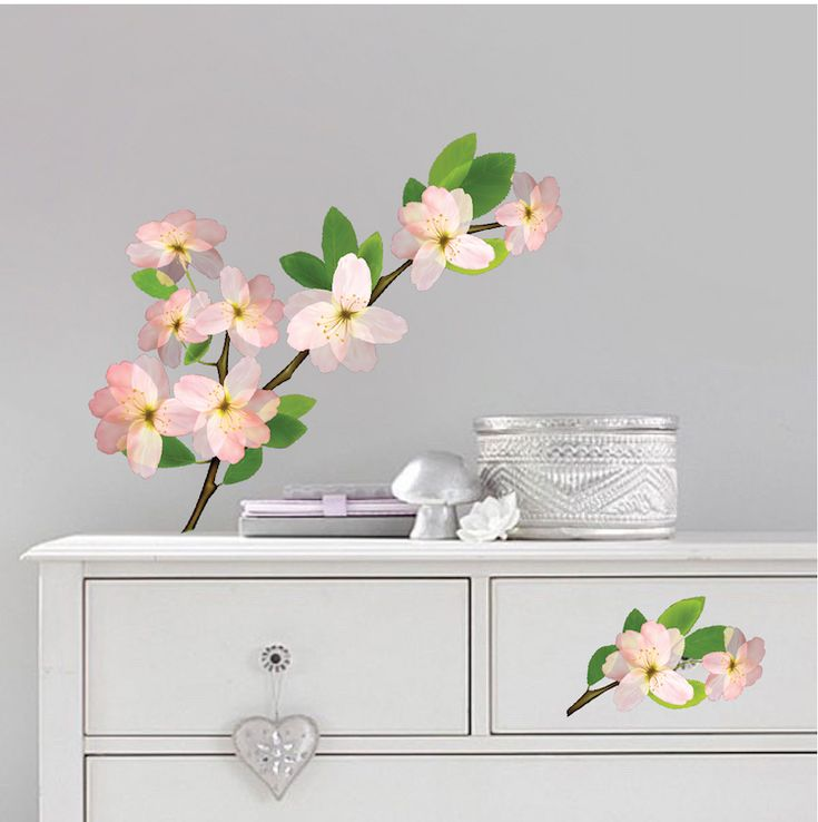 Beautiful Flower Branch Wall Decal   Bedroom Cherry Blossom Wall Sticker    Beautiful Interior Branch Wall