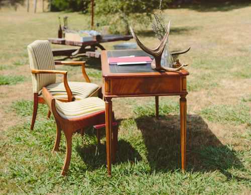 Vintage Writing Table for Hire  The Collection – Wedding and Event Vintage Prop Hire, Mornington Peninsula. See the thecollectionvintageprops.com.au for more details and prices. Contact kristy@ thecollectionvintageprops.com.au to book.