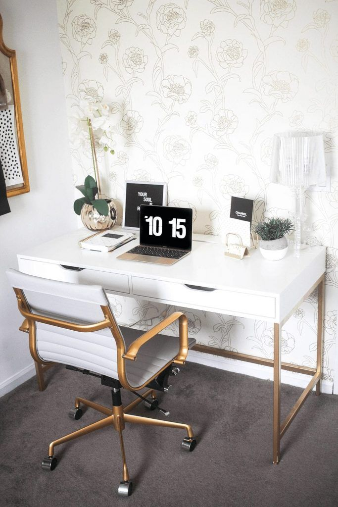 10 Best Ikea Desk Hacks That Are Super Easy To Do Dear Home Maker In 2020 Office Furniture Design Home Office Decor Ikea White Desk