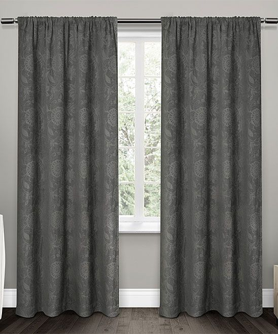 Exclusive Home Soft Gray Elle Floral Scroll Room Darkening Curtains   Set  of Two. 17 Best ideas about Room Darkening Curtains on Pinterest   Light