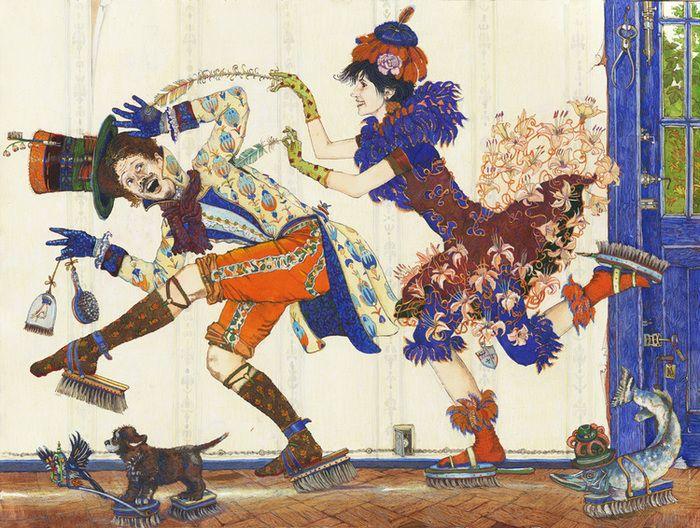 Просмотреть иллюстрацию Щекотки Щеголи боятся из сообщества русскоязычных художников автора Фролов Петр в стилях: Графика, нарисованная техниками: Акварель | Тушь.
