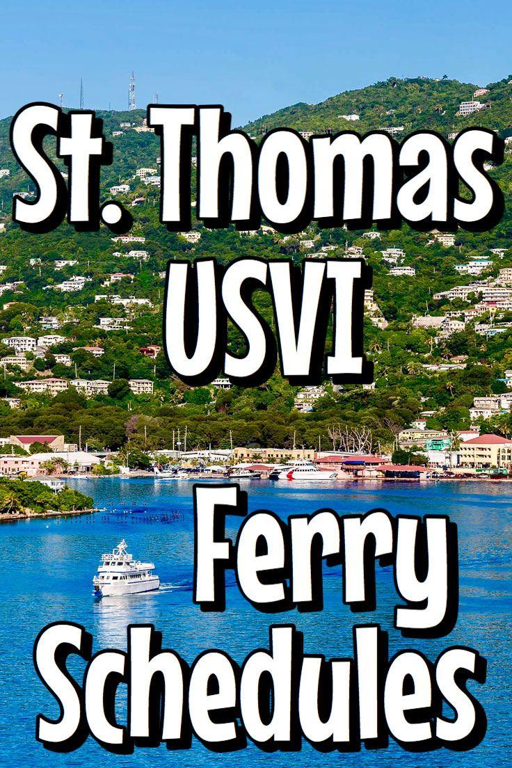 St Thomas Ferry Schedule