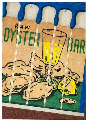Sea Shell Restaurant, by artist Aaron Kasmin, part of a series of drawings of vintage matchbooks