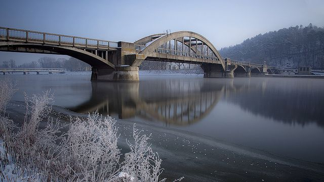 Ice Age- County Bridge (Krajinský most) , Piestany, Slovakia I | Flickr - Photo Sharing!