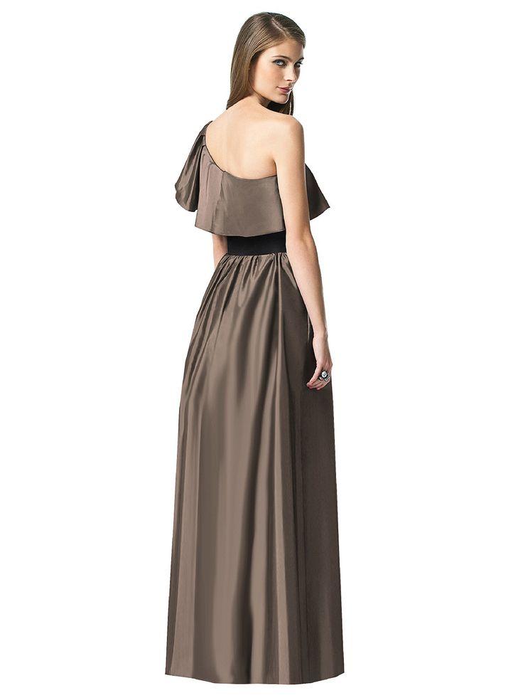 Mocha Taffeta Bridesmaid Dress