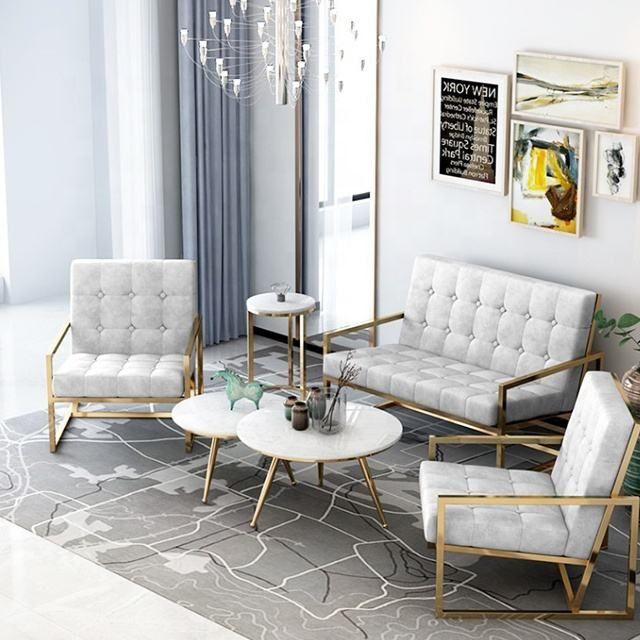 Source Promotion Living Room Furniture Stainless Steel Sofa On M Alibaba Com Furniture Metal Furniture Design Steel Sofa
