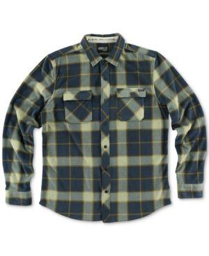 O'Neill Men's Glacier Fleece Plaid Shirt  - Blue XL