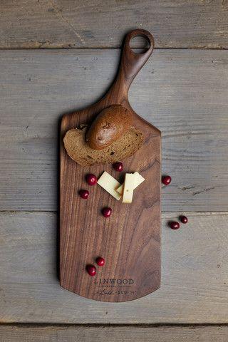 114. Medium Black Walnut Wood Handcrafted Cutting …