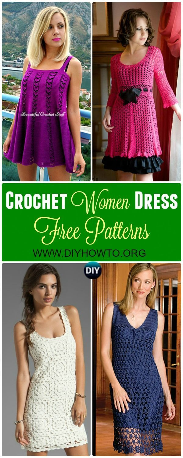 Collections of Crochet Women Dress: #Crochet; Long Dress for Ladies Spring and Summer Wear via /diyhowto/
