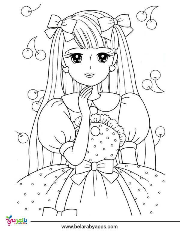 رسومات اطفال للتلوين اميرات وتلوين انمي جاهزة للطباعة بالعربي نتعلم Cute Coloring Pages Coloring Book Art Cartoon Coloring Pages
