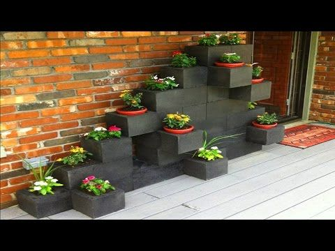 DIY Projects With Cinder Blocks Ideas Creative Uses of Concrete Blocks - YouTube