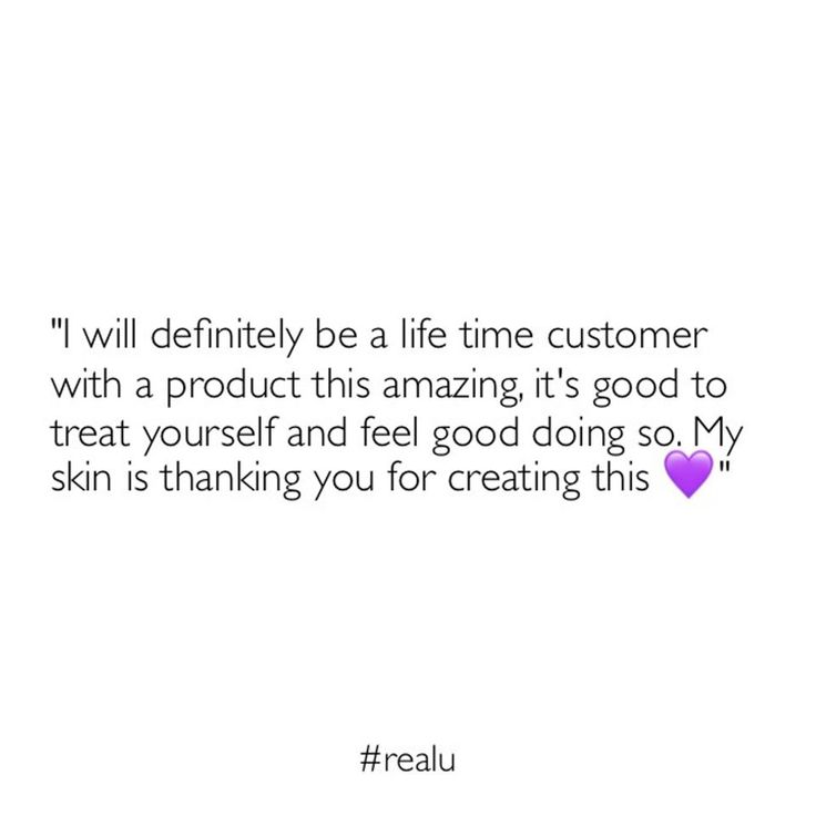 """My skin is much lighter, clearer and I finally found a moisturizer for my face that does not make it oily once applied. I will definitely be a life time customer with a product this amazing, its good to treat yourself and feel good doing so. @realuaustraliareviews I have no befores, but trust me, my skin is thanking you for creating this 💜 No filters added or needed"""" - @greshaaan"""