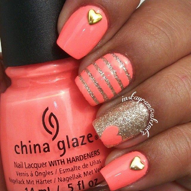China Glaze Flip Flop Fantasy and OPI My Favorite Ornament, tape mani, striped nail art