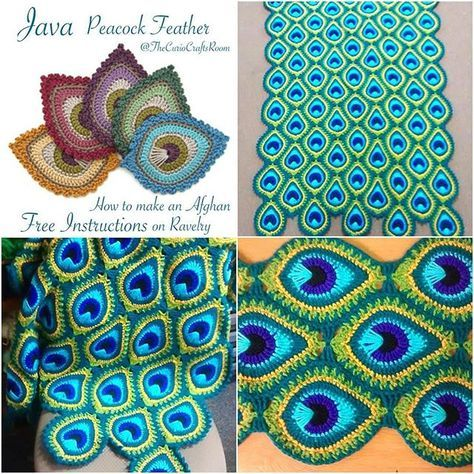 "Here it is! My first free crochet pattern, the French Mini Peacock Feather (you can read why it is called ""French"" in my previous post)..."