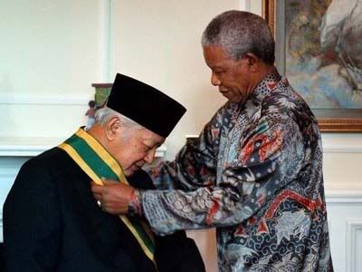 Received an award from President Nelson Mandela.