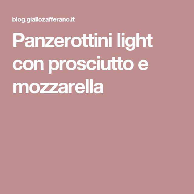 Panzerottini light con prosciutto e mozzarella