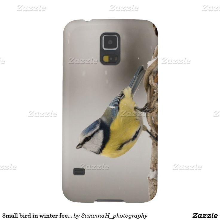 Small bird in winter feeding place galaxy s5 case