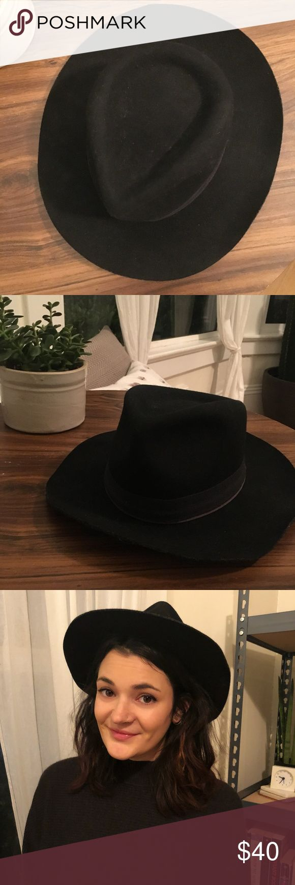 Madewell x Biltmore Hat Medium/large 100% wool black hat Madewell Accessories Hats