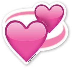Revolving Hearts   Emoji Stickers