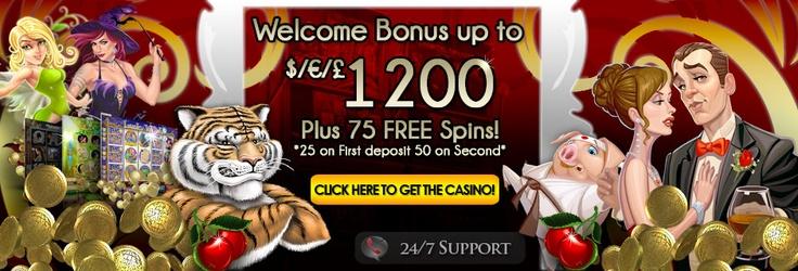 Royal Vegas - 1200 + 75 free spins