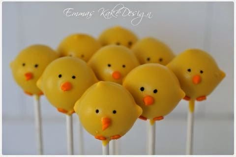 Emmas KakeDesign: Easter chicken Cakepops! Step by step pictorial on the blog www.emmaskakedesign.blogspot.com