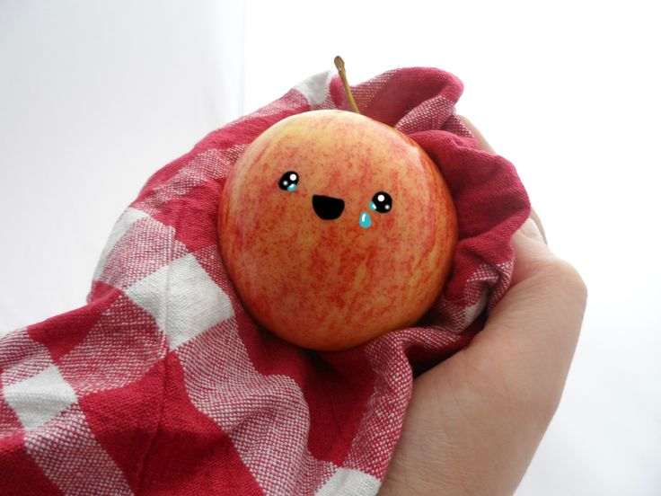 Kawaii Apple Made By Me CottonCandyDreams 25/05/2015 Tears of joy