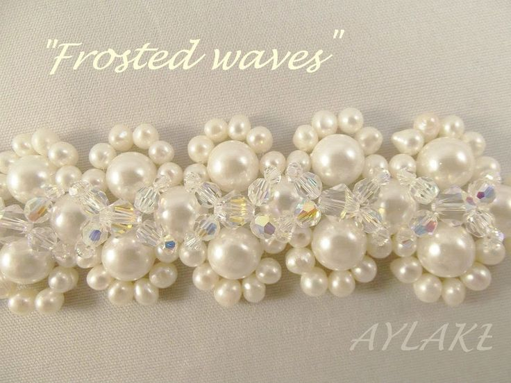 "Bracelet ""Frosted waves"" step by step tutorial"