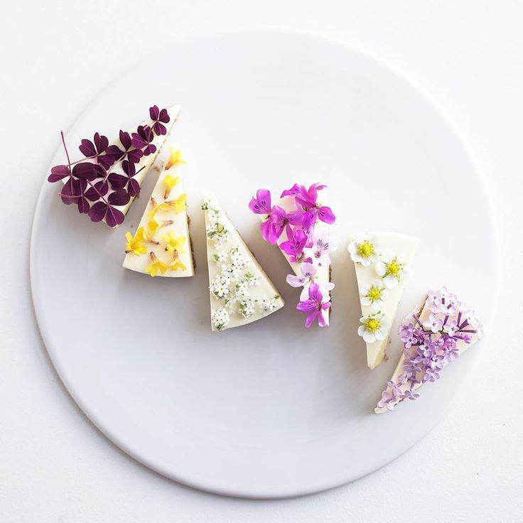 How could someone resist #dessert as beautiful (and delectable) as this edible #flower decorated #cheesecake created by Maja Chocolat? Yes, please, we'll have one of each! Instagram repost: majachocolat | WedLuxe Magazine | #wedding #cake #luxury #weddinginspiration