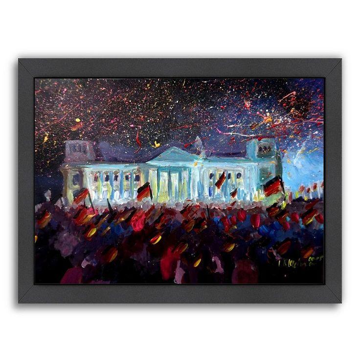 "Americanflat ""German Reunification Festivities Berlin Reichstag"" Framed Wall Art, Multicolor"