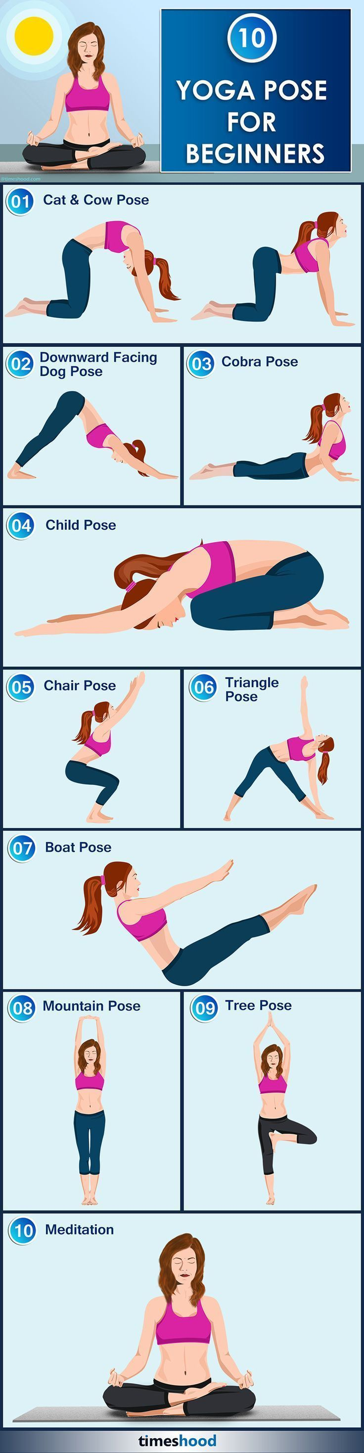Yoga For Beginners: 10 Easy Yoga Position for beginners - Easy yoga pose for beginners to let them start effortlessly. Learn here how to start simple yoga pose initially. Know yoga benefits while performing. #YogaBenefits