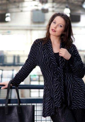 exelle, black-grey striped Cardigan