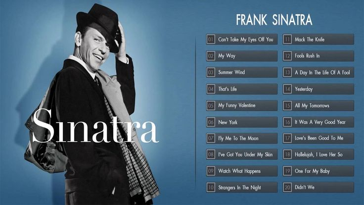 Frank Sinatra Greatest Hits Playlist Cover 2016