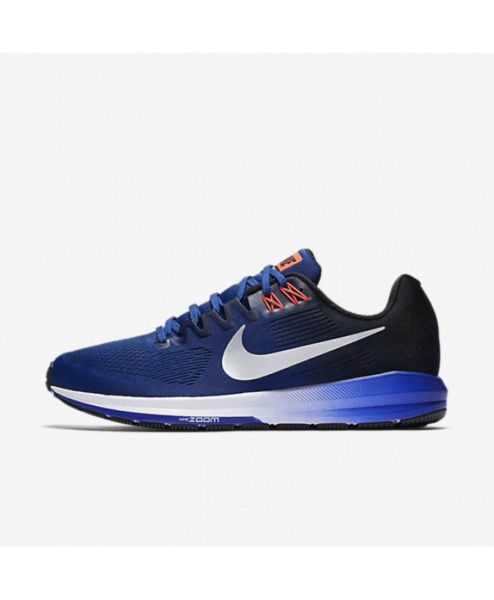 Nike Air Zoom Structure 21 Deep Royal Blue Black Concord Metallic Silver  904695-401