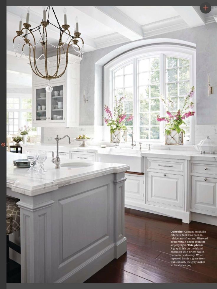 White Kitchen Cabinets, French Antique White Kitchen Cabinets