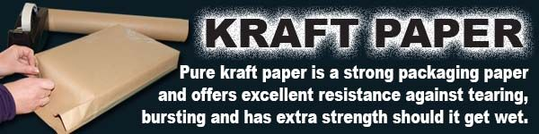 Pure Kraft Paper is great for packaging and has extra strength should it get wet! www.directa.co.uk